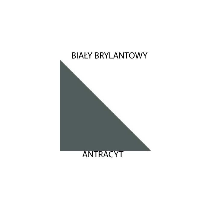 Biały brylantowy / antracyt