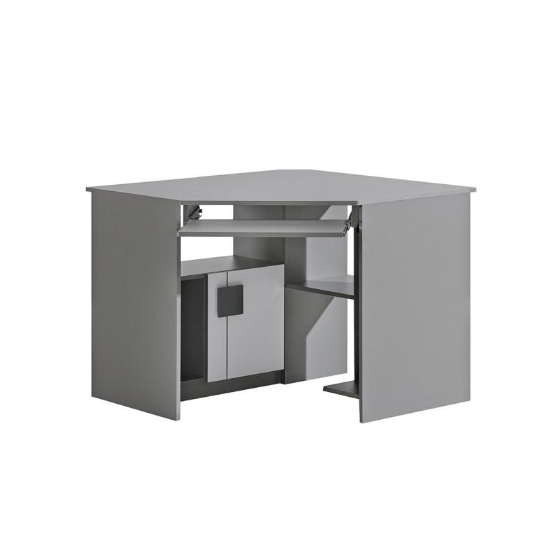 GUMI biurko narożne - Biały brylantowy / antracyt / G11