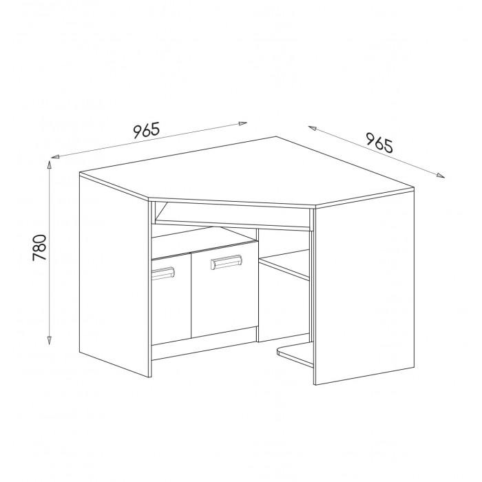 LORENTO biurko narożne L11