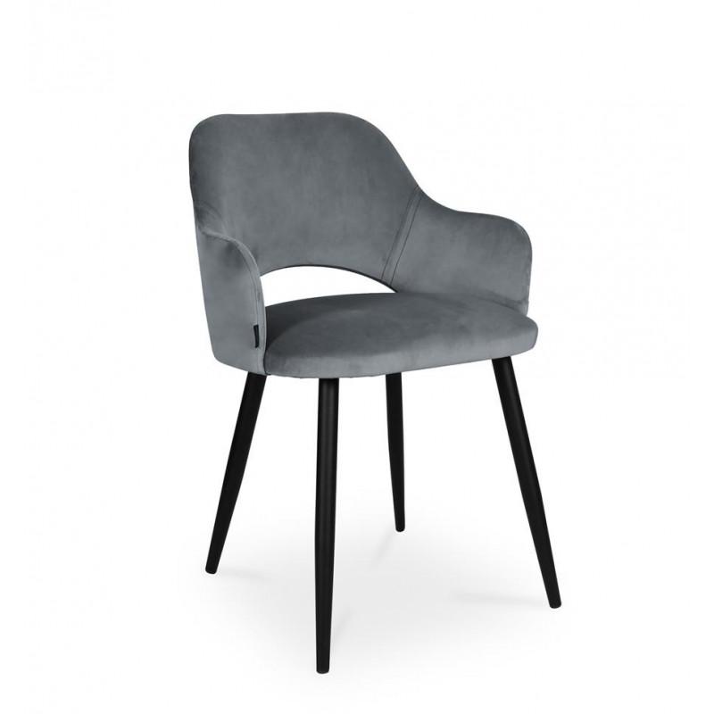 krzesło MARCY / ciemny szary / noga czarna / BL14