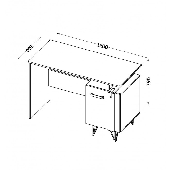 LOFTER biurko LO9