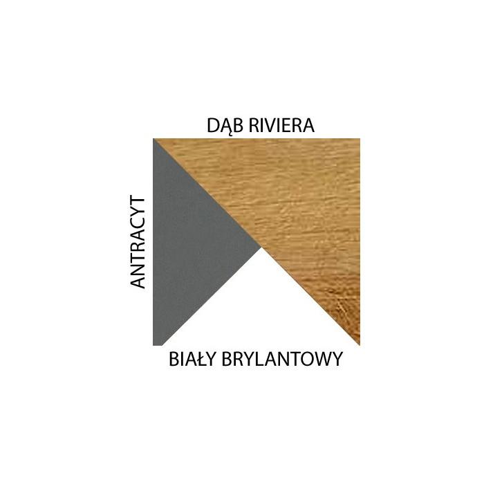 Antracyt / biały brylantowy / riviera
