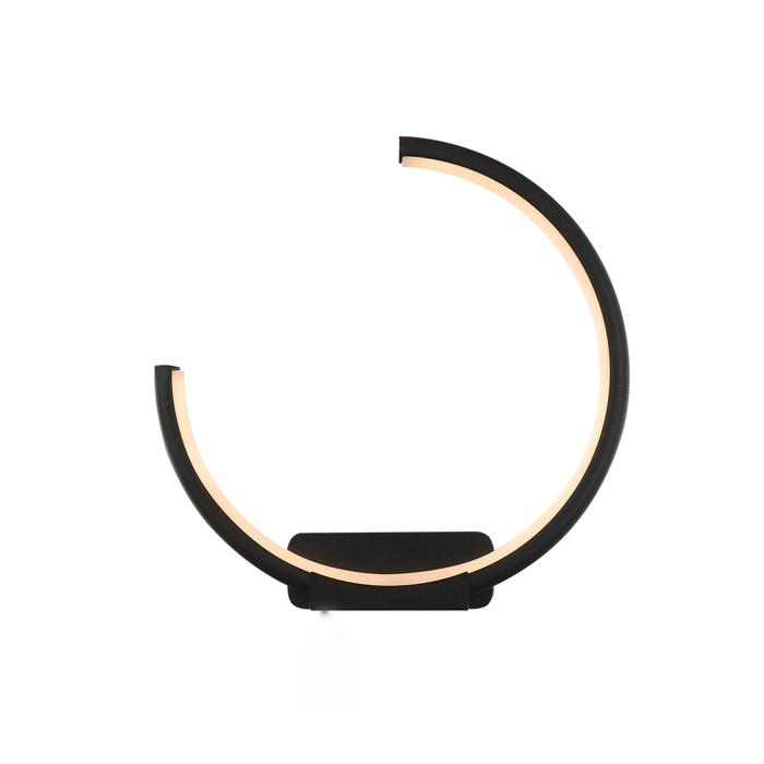 Altavola Design: Kinkiet Ledowe Okręgi no. 1 moon in 3k czarny