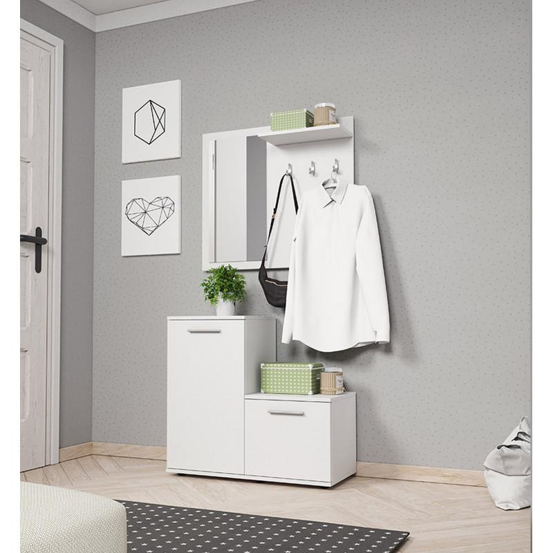 Nowoczesna garderoba MONTI Biała