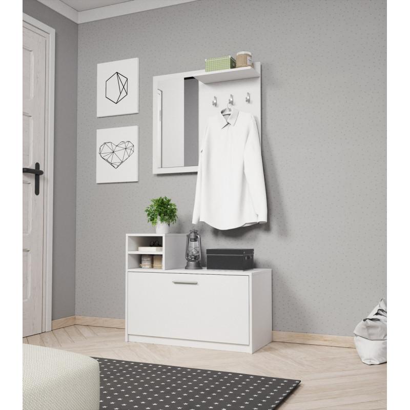 Elegancka garderoba LUNA biała