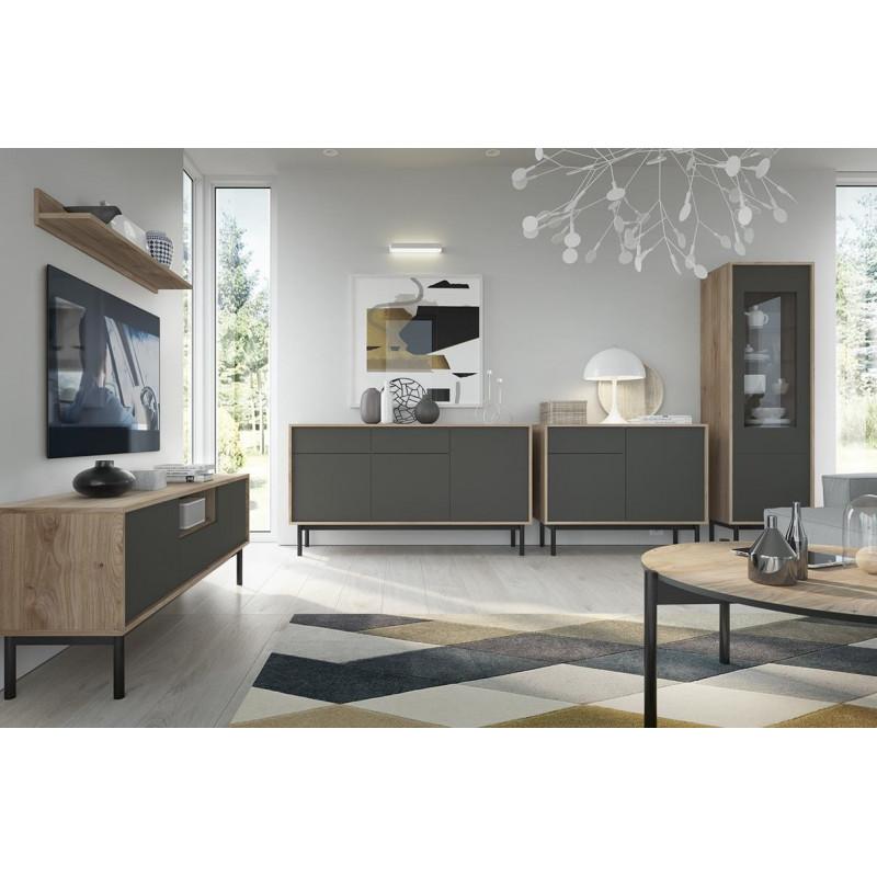 BASIC - Zestaw mebli w stylu loft do salonu II