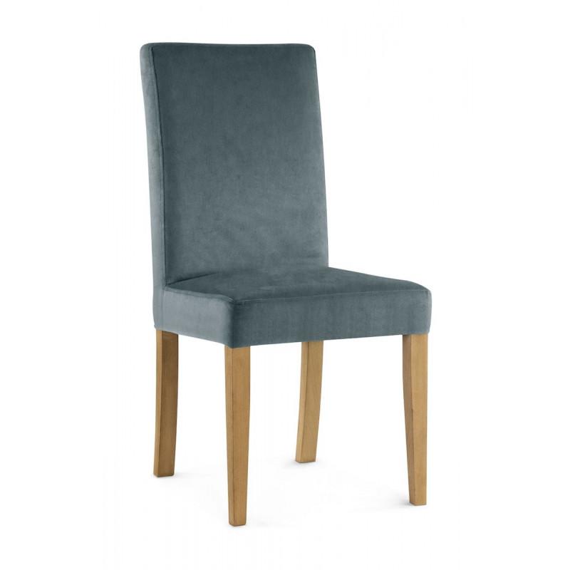 Krzesło WILLIAM szary/ noga dąb/ PA06