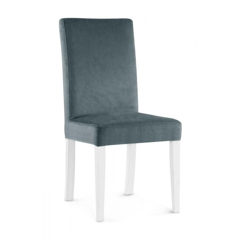 Krzesło WILLIAM szary/ noga biała/ PA06