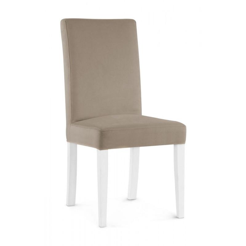 Krzesło WILLIAM beżowy/ noga biała/ PA03