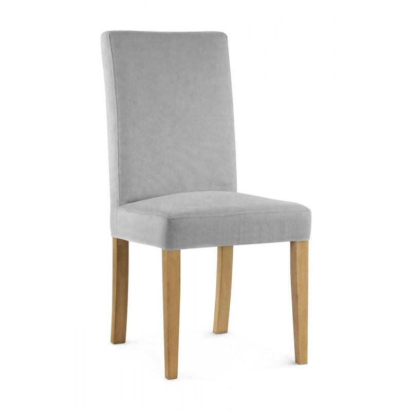 Krzesło WILLIAM srebrny/ noga dąb/ PA05