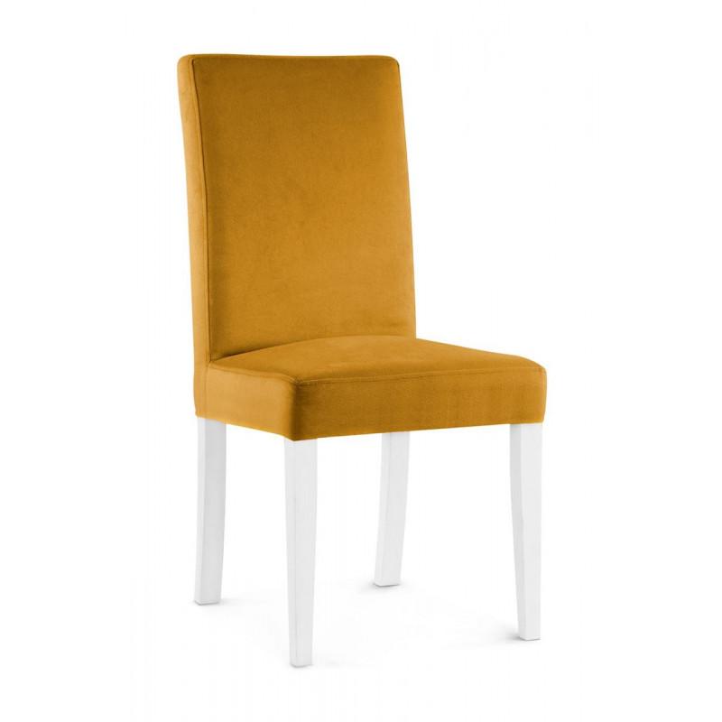 Krzesło WILLIAM miodowy/ noga biała/ KR01