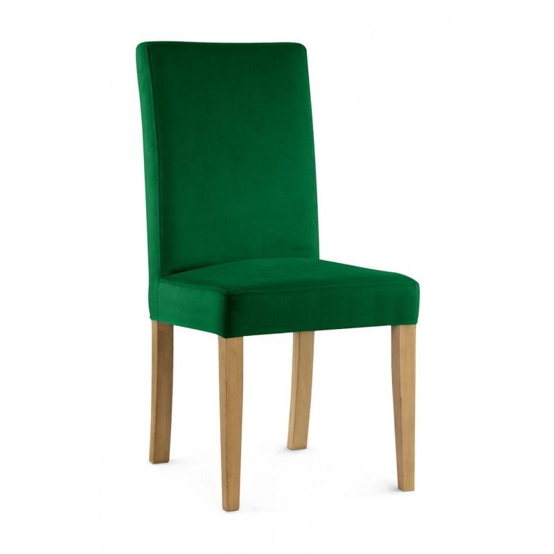 Krzesło WILLIAM zielony/ noga dąb/ KR19