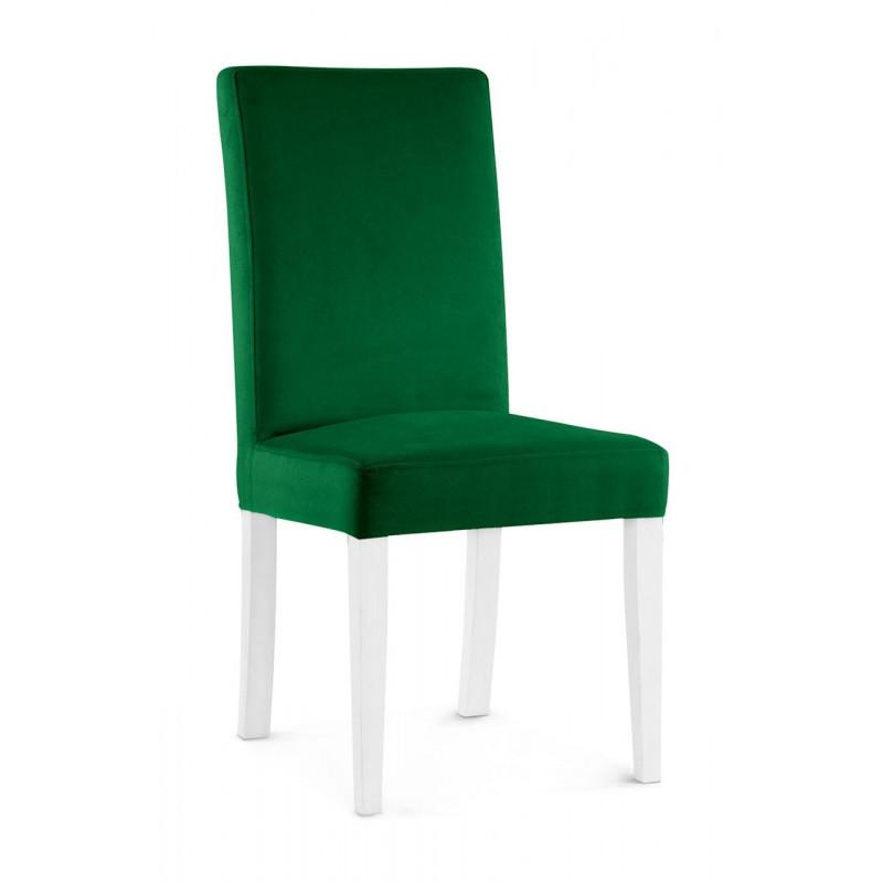 Krzesło WILLIAM zielony/ noga biała/ KR19