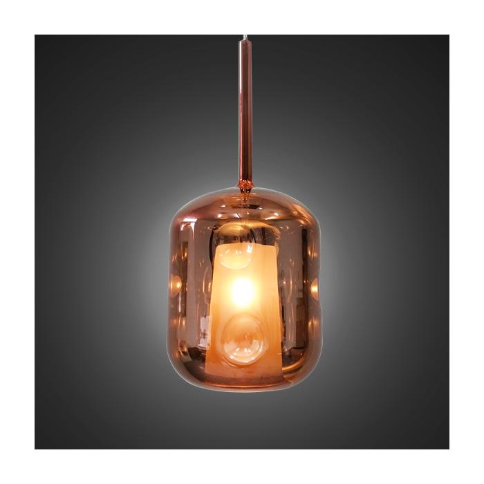 Lampa wisząca EUFORIA No. 3 różowe złoto - Różowy || Złoty