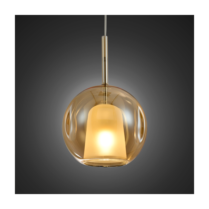 Lampa wisząca EUFORIA No. 2 25cm bursztynowa - Bursztynowy