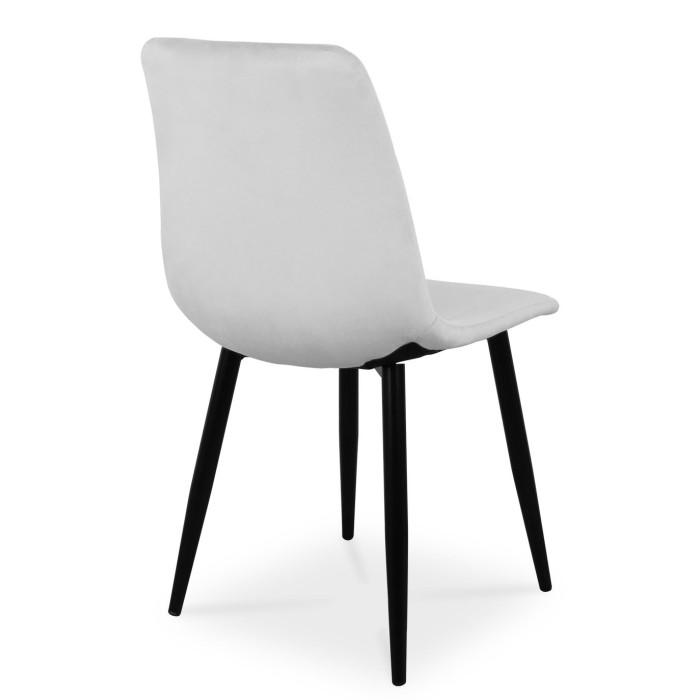 Nowoczesne krzesło TUX srebrny z nogą czarną - tył