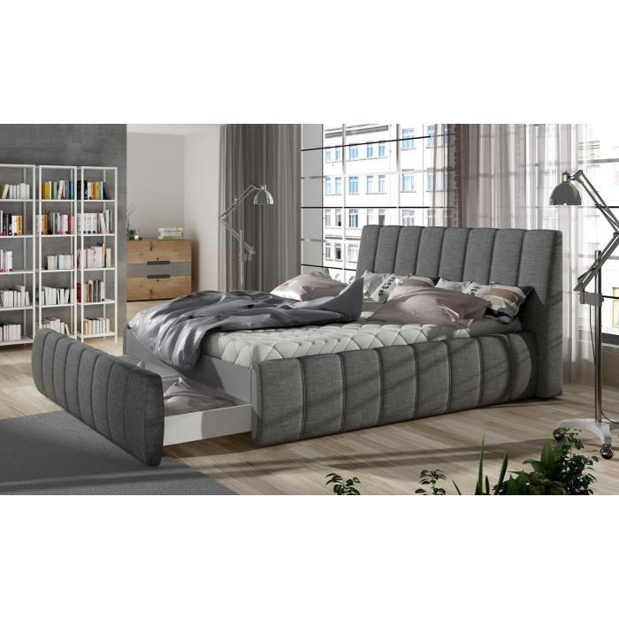 Łóżko tapicerowane VENETO 160x200 z dwoma szufladami na pościel