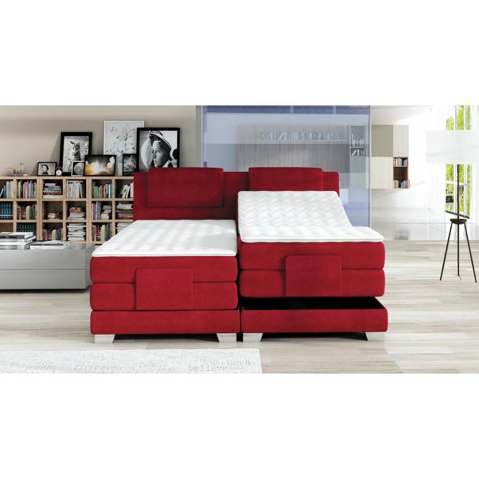Łóżko kontynentalne 160x200 WAVE z elektryczną regulacją