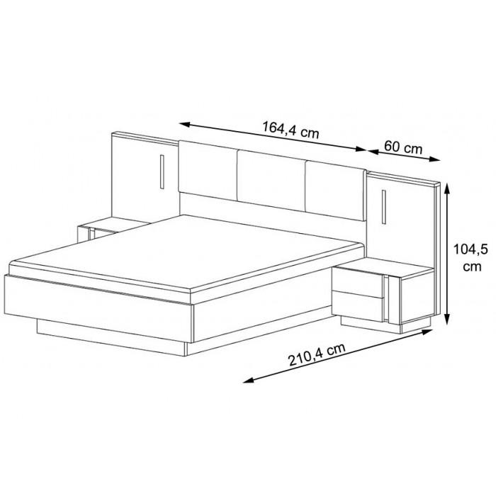 ALTO - Łóżko ze stolikami