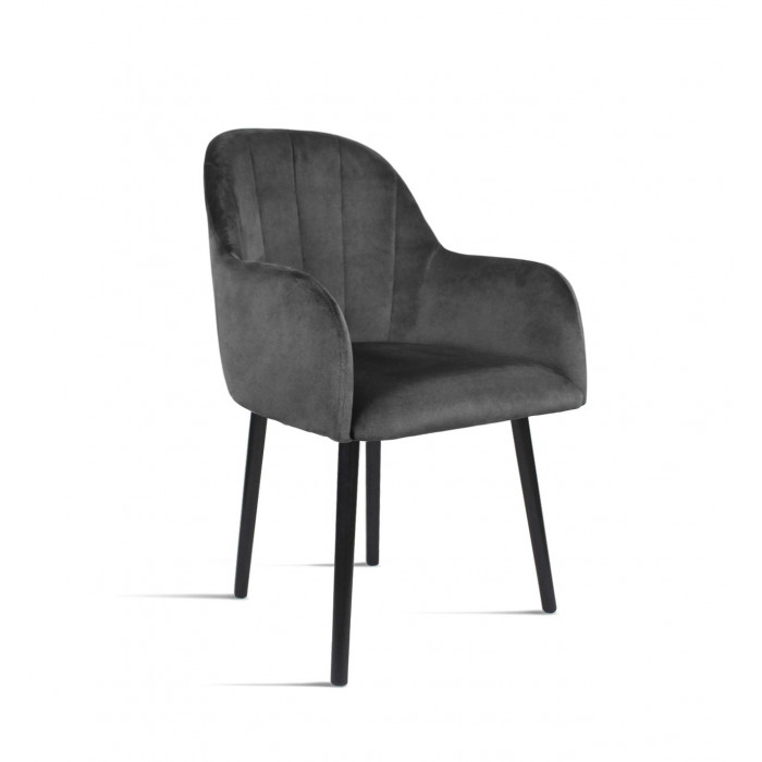 Krzesło BESSO ciemny szary/ noga czarna/ TR15