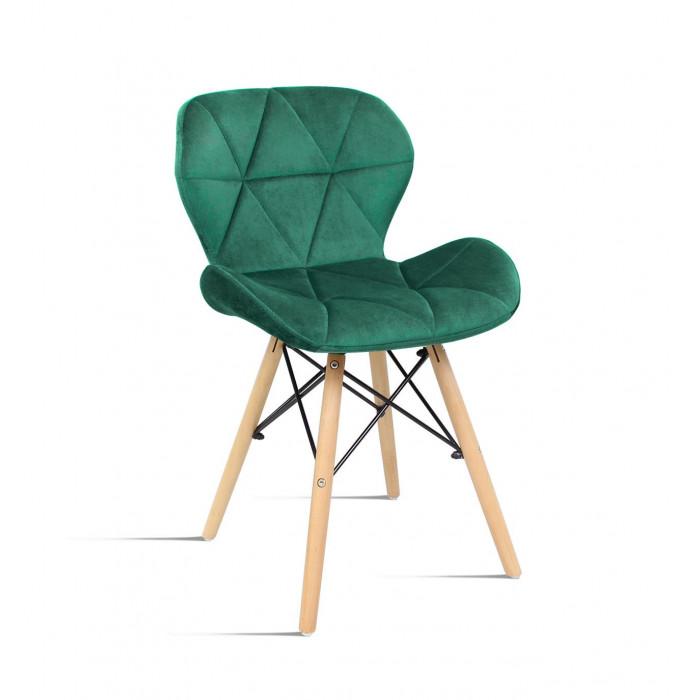 krzesło Milo Velvet zielony