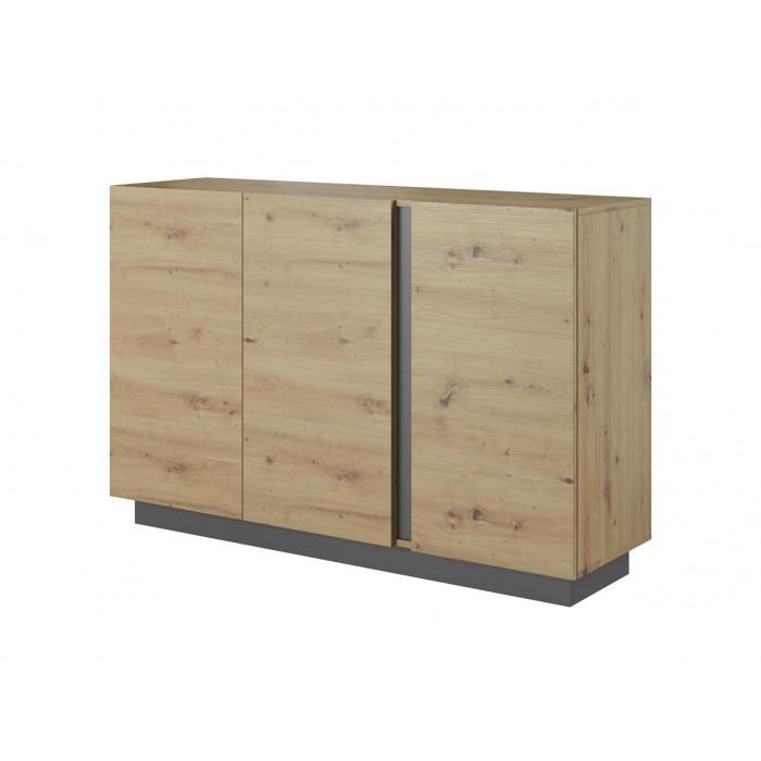 ALTO - komoda 3-drzwiowa 138 3D Dąb artisan