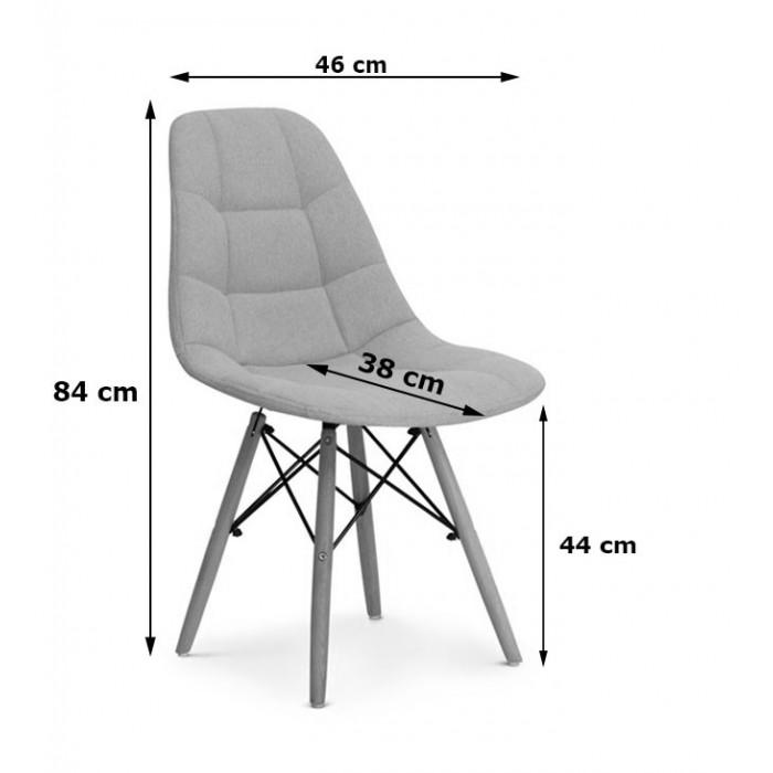 Nowoczesne Krzesło do jadalni Fabio Velvet butelkowa zieleń z nogą czarną - wymiary