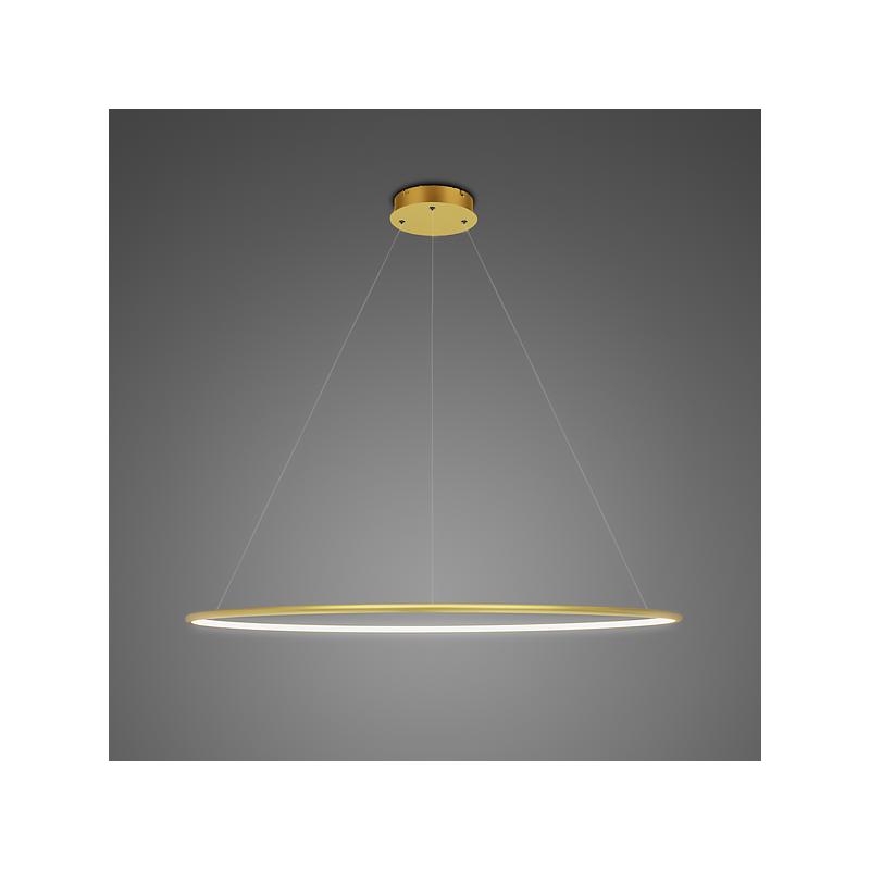 Altavola Design: lampa wisząca Ledowe Okręgi No. 1 Φ100cm złoty in 4k