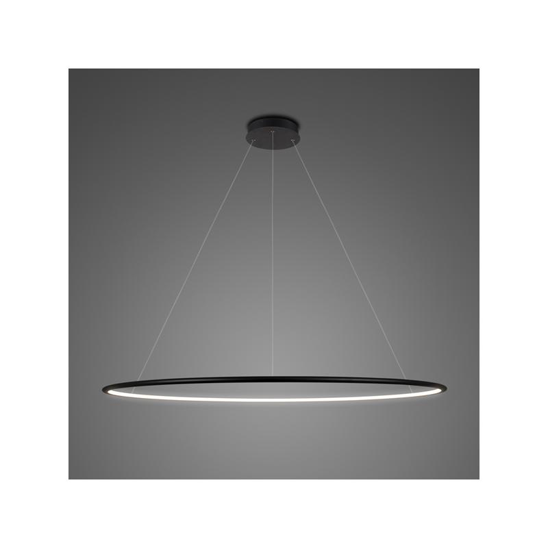 Altavola Design: lampa wisząca Ledowe Okręgi No.1 czarna in 4k - Czarny