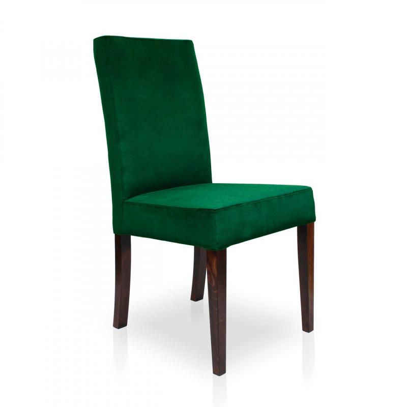 Krzesło WILLIAM zielony/ noga orzech/ KR19