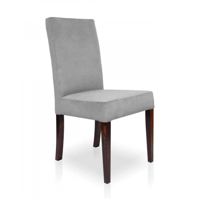 Krzesło WILLIAM srebrny/ noga orzech/ PA05