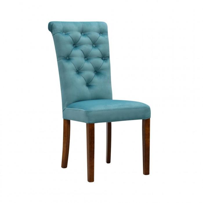 Krzesło tapicerowane ADELMIRA z pikowaniem chesterfield