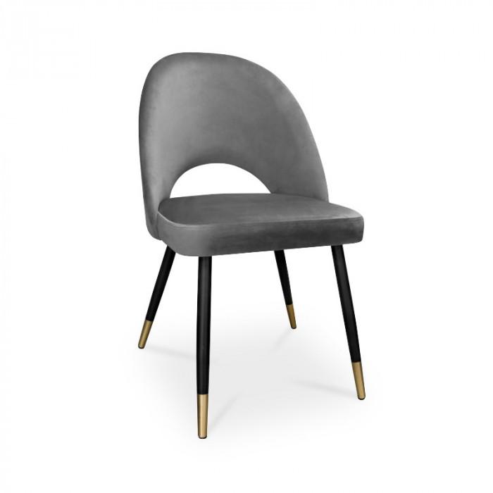 krzesło POLO / ciemny szary / noga czarno-złota / BL14