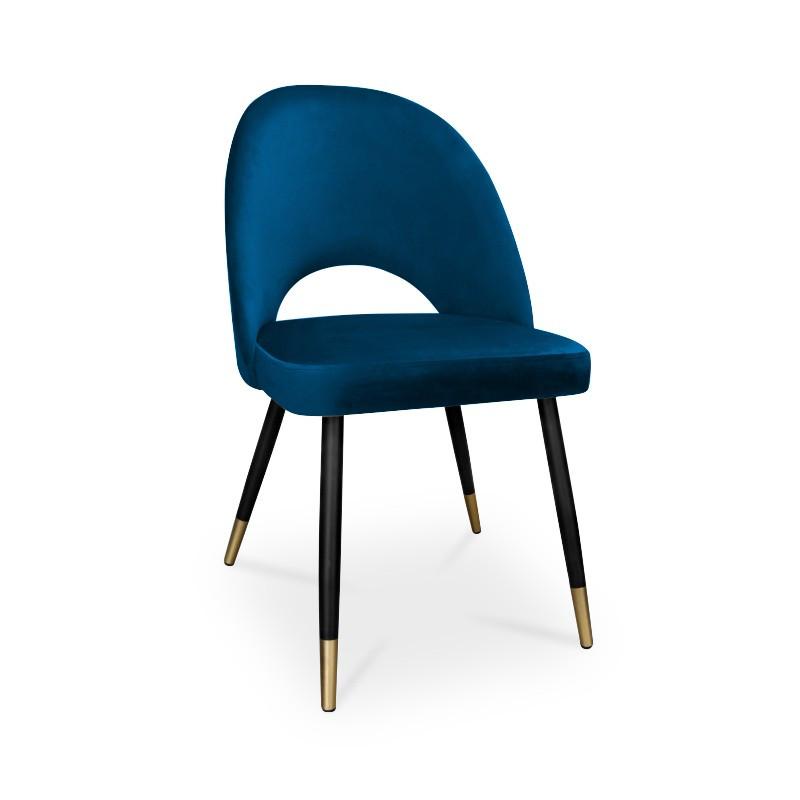 krzesło POLO / granatowy / noga czarno-złota / MG16