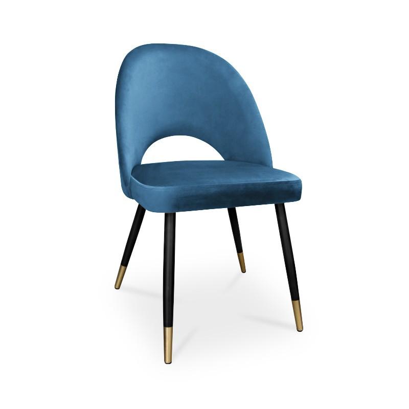 krzesło POLO / niebieski / noga czarno-złota / MG33