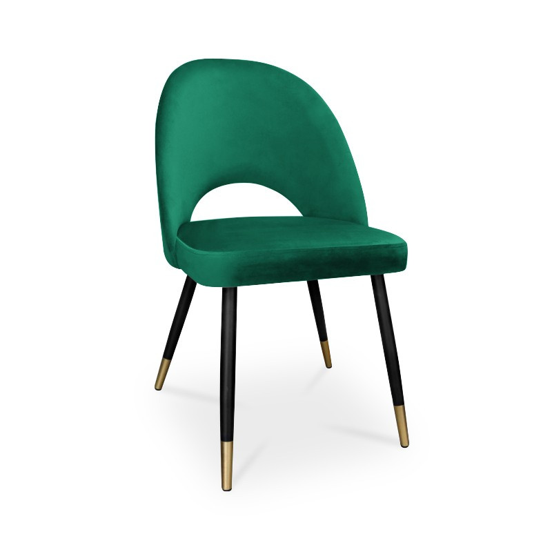 krzesło POLO / morski / noga czarno-złota / MG20