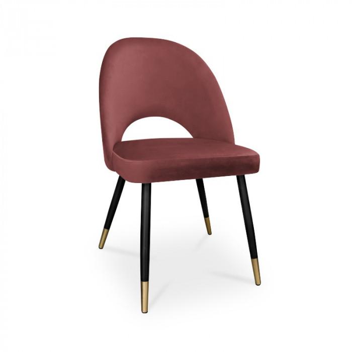 krzesło POLO / ciemny róż / noga czarno-złota / MG58