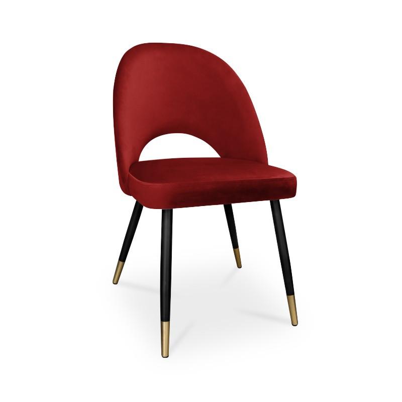 krzesło POLO / czerwony / noga czarno-złota / MG31