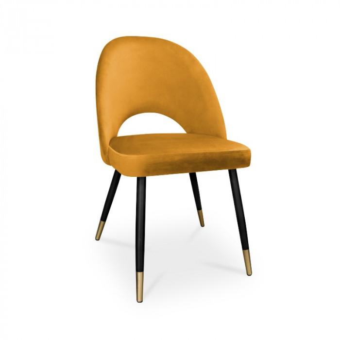 krzesło POLO / miodowy / noga czarno-złota / MG15