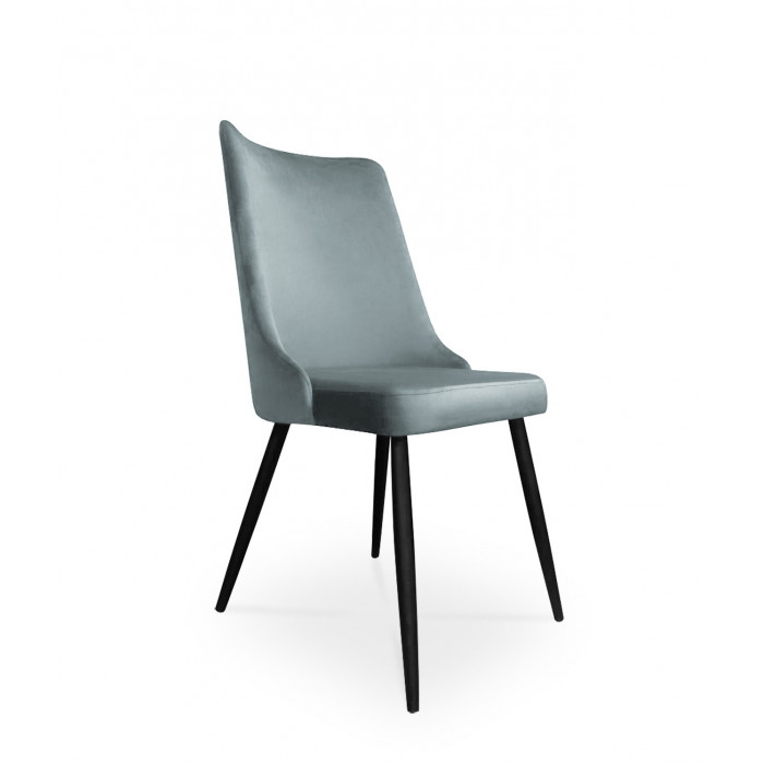 krzesło VICTOR / srebrno-niebieski / noga czarna / BL06