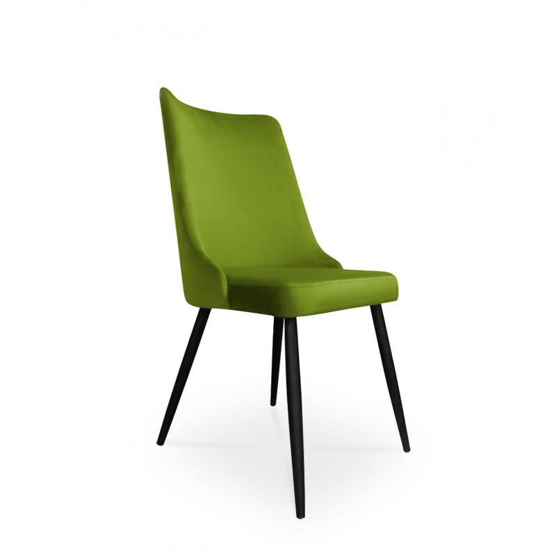 krzesło VICTOR / oliwkowy / noga czarna / BL75