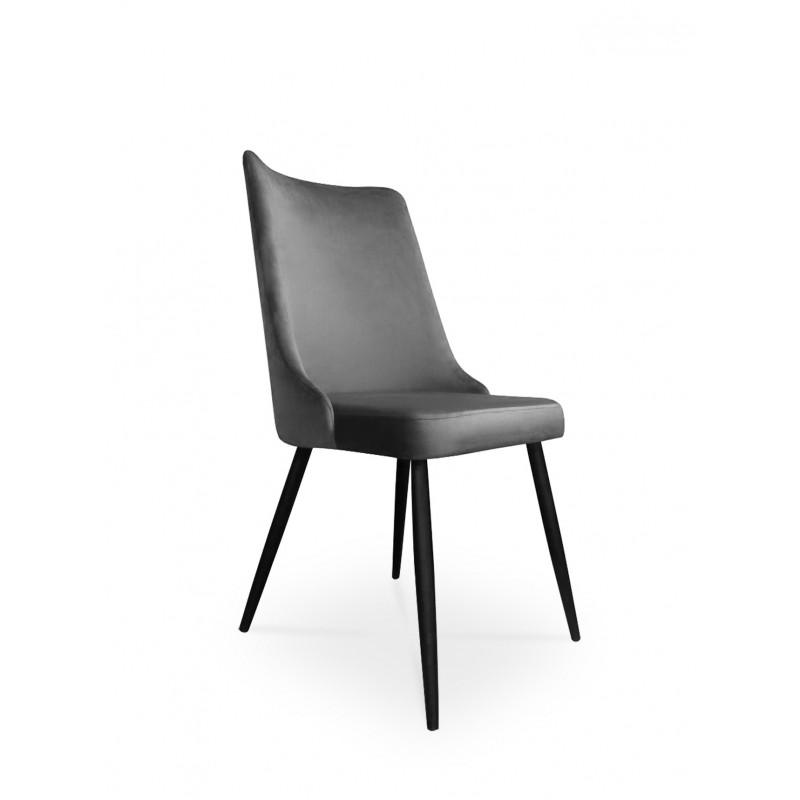 krzesło VICTOR / ciemny szary / noga czarna / BL14