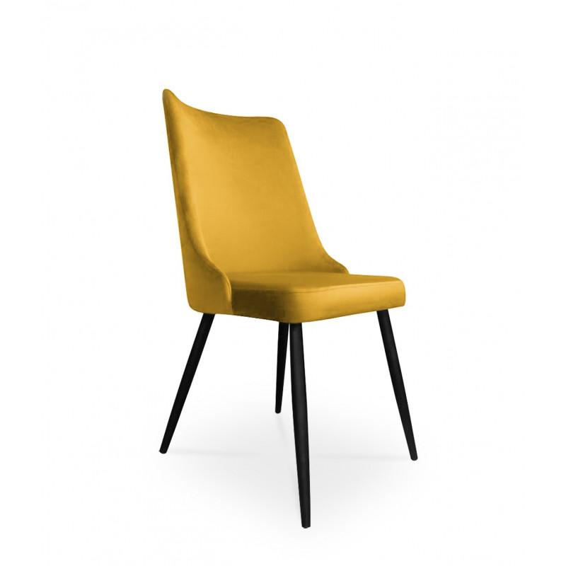 krzesło VICTOR / miodowy / noga czarna / MG15