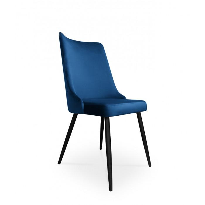 krzesło VICTOR / granatowy / noga czarna / MG16