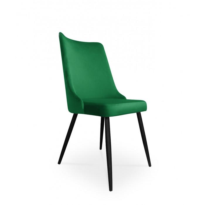 krzesło VICTOR / zieleń butelkowa / noga czarna / MG25