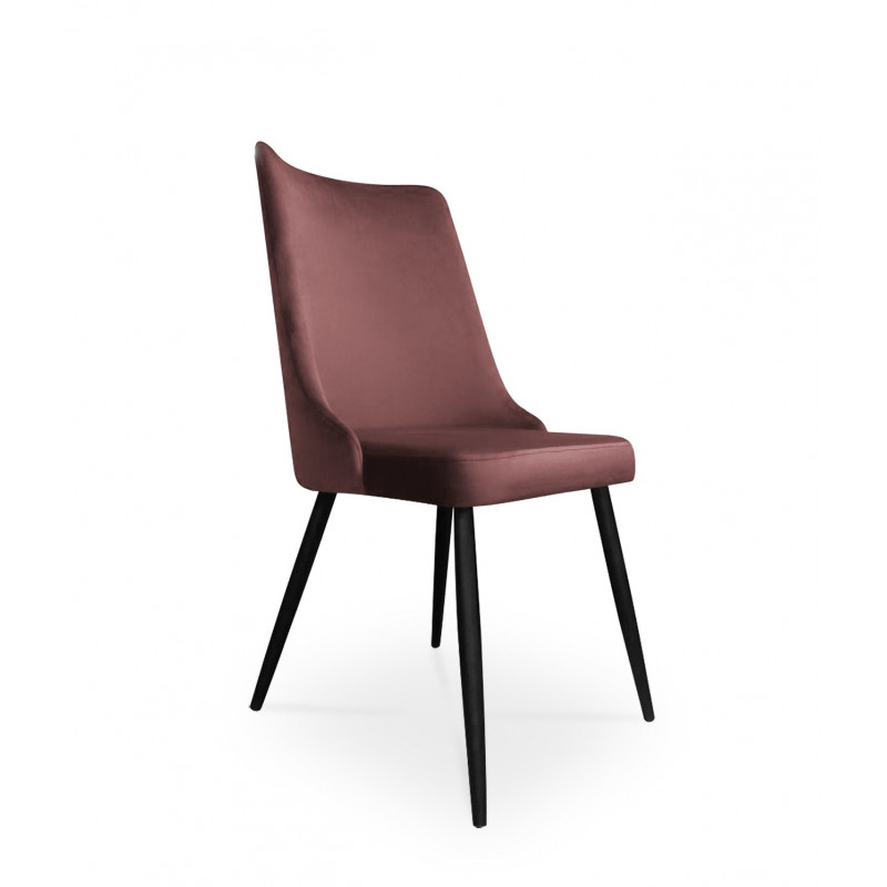 krzesło VICTOR / ciemny róż / noga czarna / MG58
