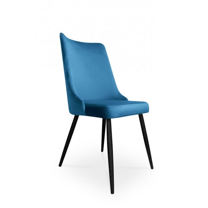 krzesło VICTOR / niebieski / noga czarna / MG33