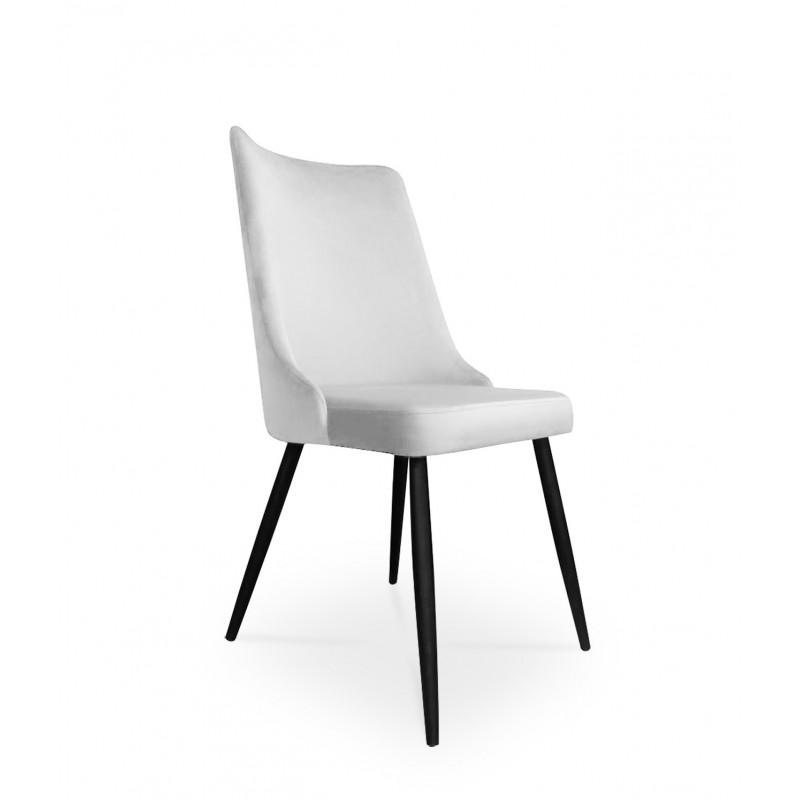 krzesło VICTOR / jasny szary / noga czarna / MG39