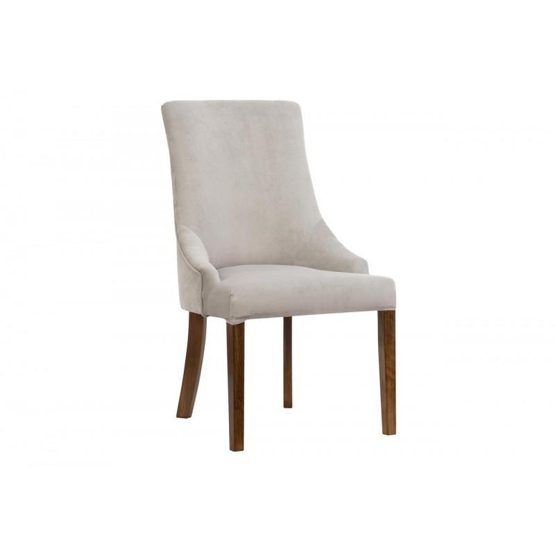 Tapicerowane krzesło MONICA na drewnianych nogach
