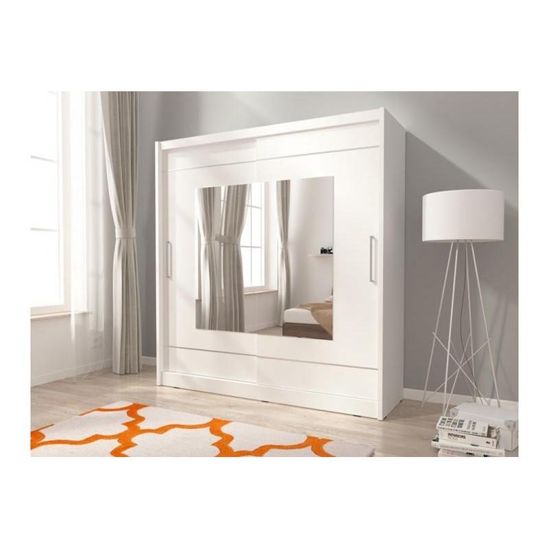 Szafa przesuwna na ubrania MAJA IX 200 cm biała